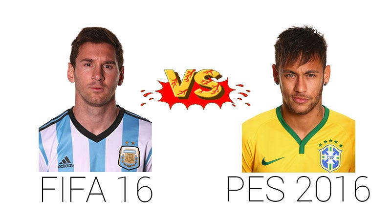 Illustration for article titled FIFA 16 vs PES 2016: Which Is Better?