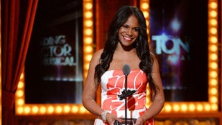 Audra McDonald accepts the award for Best Performance by an Actress in a Leading Role in a Play for Lady Day at Emerson's Bar & Grillduring the 68th Annual Tony Awards at Radio City Music Hall June 8, 2014, in New York City.Theo Wargo/Getty Images