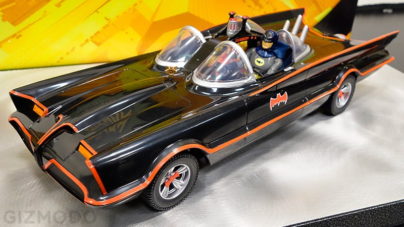"""Illustration for article titled """"Holy Classic 1966 Batmobile With Six-Inch Figures, Batman!"""""""