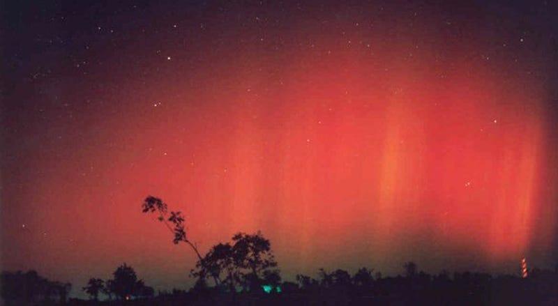 Aurora in TX from the 2003 solar storm (Christie Ponder)