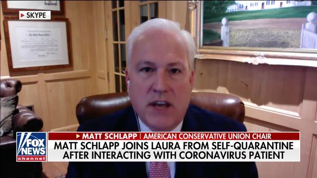 CPAC Organizer Tells Everyone to  Calm Down  Via Skype From Coronavirus Quarantine