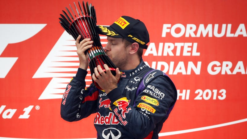 Illustration for article titled Sebastian Vettel And Infiniti Red Bull Racing Racing Seal Formula One World Championship In India