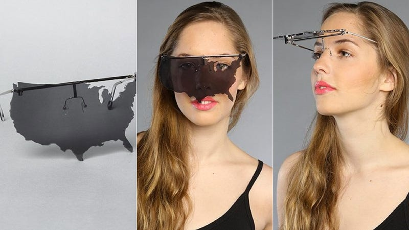 Illustration for article titled Ridiculous $200 AMERICA Sunglasses: Wear the U.S.A. on Your Face