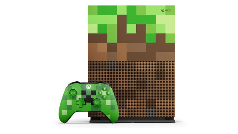 Look At This Official Minecraft-Themed Xbox One