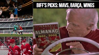 Illustration for article titled Biff Tannen Predicts This Weekend's Biggest Sports Matchups