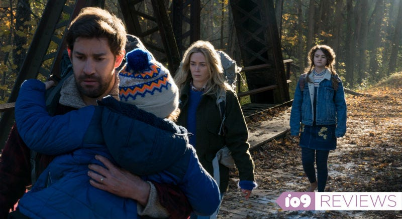 John Krasinski, along with his real-life wife Emily Blunt, star in A Quiet Place.
