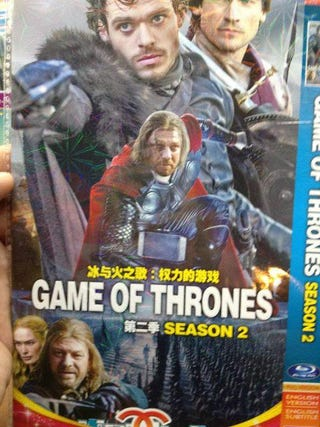 Illustration for article titled In the bootleg Game of Thrones, Thor hangs out with House Stark