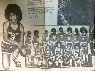 Illustration for article titled Prince Was An Afro-Rocking, Coach-Hating Schoolboy Basketball Player