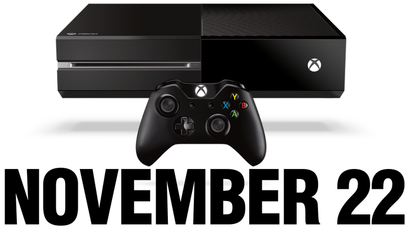 Illustration for article titled The Xbox One Comes Out on November 22