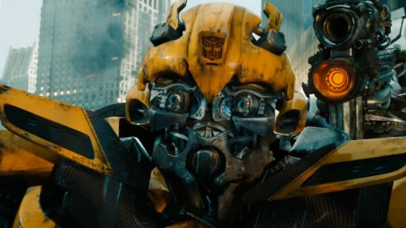 He presumably won't look so worse for wear in the past (Screenshot: Transformers: The Last Knight)