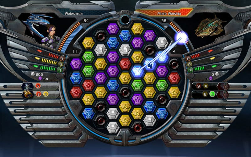 Illustration for article titled New(ish) Puzzle Quest: Galactrix Screens