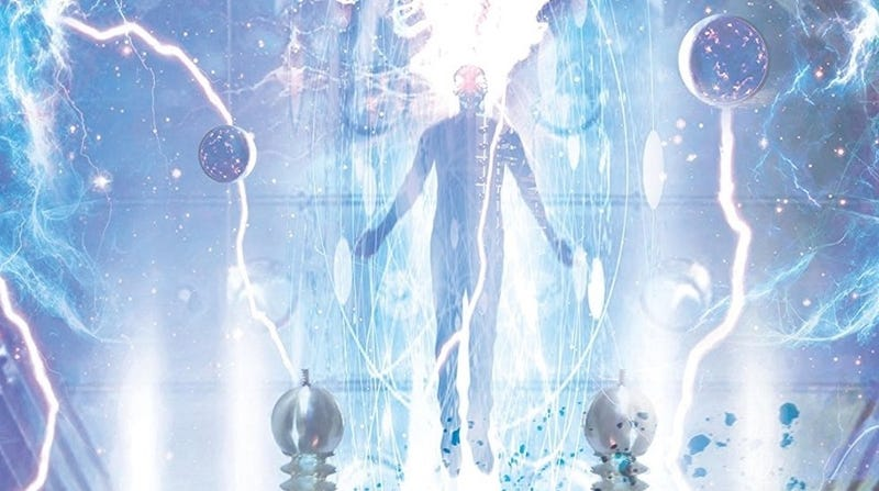 Detail from the cover of Ball Lightning by Cixin Liu.