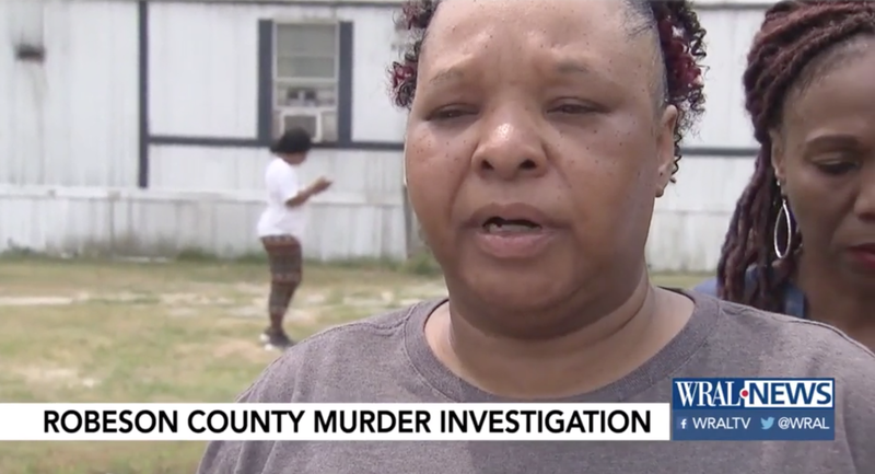 Brenda Scurlock talks to reporters after the murder of her transgender daughter Chanel.