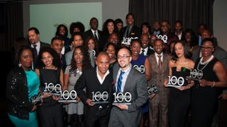 The Root 100 honorees at the Tribeca Rooftop in New York CitySeher Sikandar
