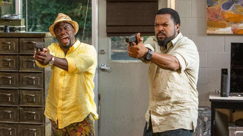 Illustration for article titled Kevin Hart and Ice Cube's chemistry is squandered again in Ride Along 2