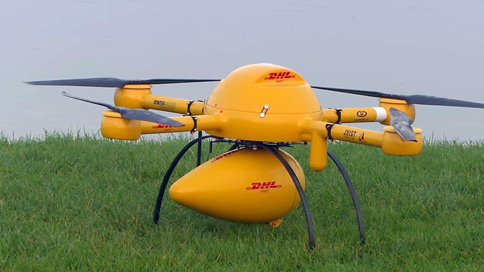 DHL comienza a probar repartir paquetes con drones en Alemania