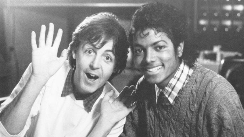 Illustration for article titled Say, say, say what you want, but Paul McCartney and Michael Jackson knew how to hustle