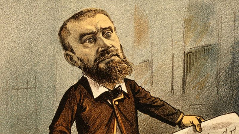 An 1881 political cartoon depicting Charles Guiteau demanding a political appointment at gunpoint. (Image: Public domain)