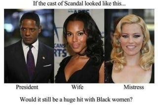 Illustration for article titled Black women, black men & white women
