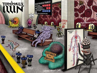 Illustration for article titled In the comic book Terminally Illin', cancer is the supervillain