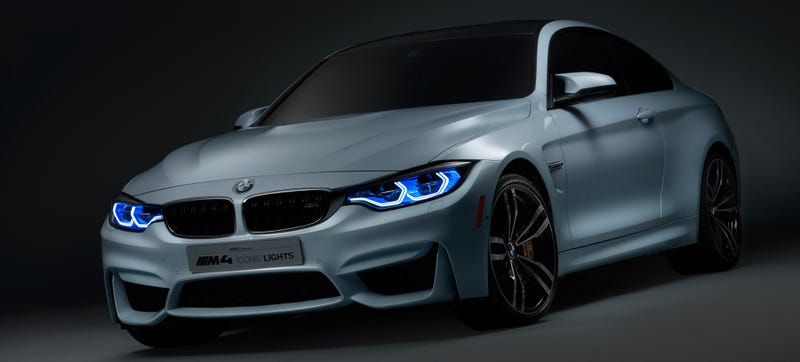 Illustration for article titled This BMW M4 Concept Has Frickin' Laser Beams For Eyes
