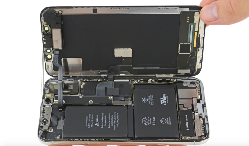 quality design c7a50 0a6b7 iPhone X Teardown Finds More Battery Power Than the iPhone 8 Plus
