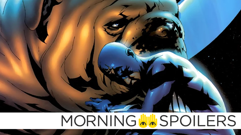 Illustration for article titled InhumansSet Pictures Give Us Our First Look at Black Bolt and Lockjaw