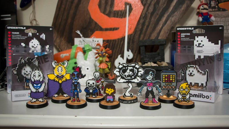 Illustration for article titled Custom Undertale Amiibos Are Works of Art