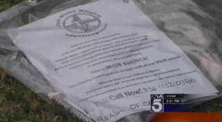 The KKK fliers distributed in Whittier, Calif., the weekend of June 27, 2015KTLA