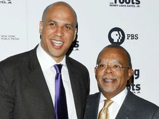 Cory Booker with Henry Louis Gates Jr. (Jimi Celeste/Patrick McMullan, Getty Images)