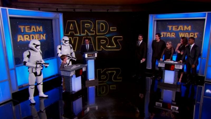 Illustration for article titled A 7-year-old schooled Carrie Fisher in Star Wars trivia on Kimmel last night