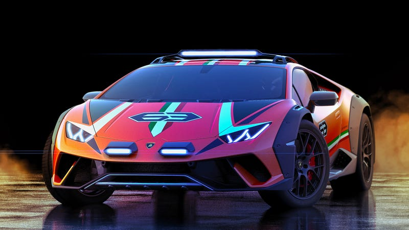 Illustration for article titled Everybody Shut Up and Bask in the Glory of this Real Lamborghini Huracan Safari Concept