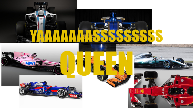 Illustration for article titled All these colorful F1 cars are FAB