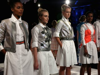 Models pose at the Fashion Law Institute Spring 2013 fashion show. (Astrid Stawiarz/Getty Images Entertainment)