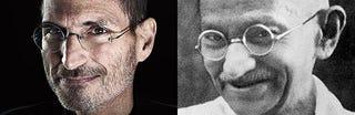 Illustration for article titled Steve Gandhi or Mahatma Jobs