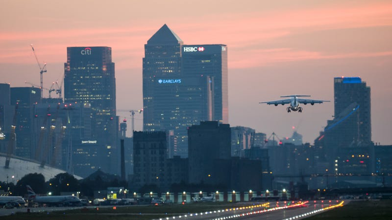 London City Airport. Photo credit: James Petts