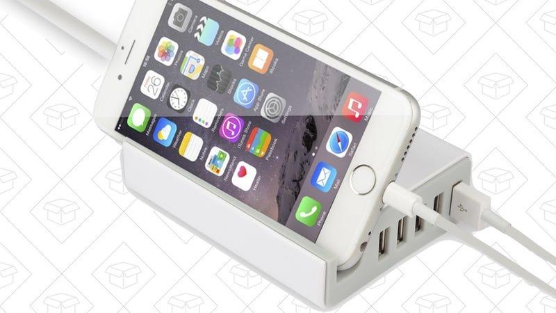 KMASHI 5-Port USB Charger, $10 with code R7CBI4WD