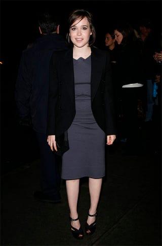 Illustration for article titled Ellen Page: Somber Suits Her!