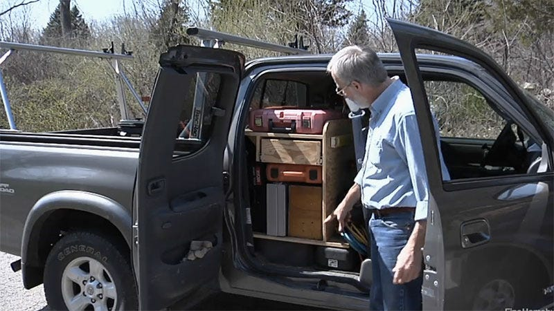 Make A Tool Storage Box To Fit Your Extra Cab Pickup Truck
