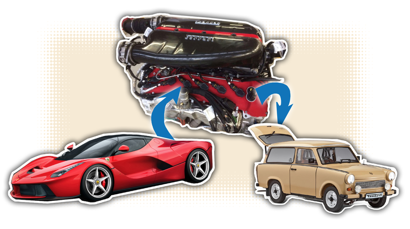 Illustration for article titled You Can Make The LaFerrari Engine Swap Of Your Stupidest Dreams Happen For Just $385,000