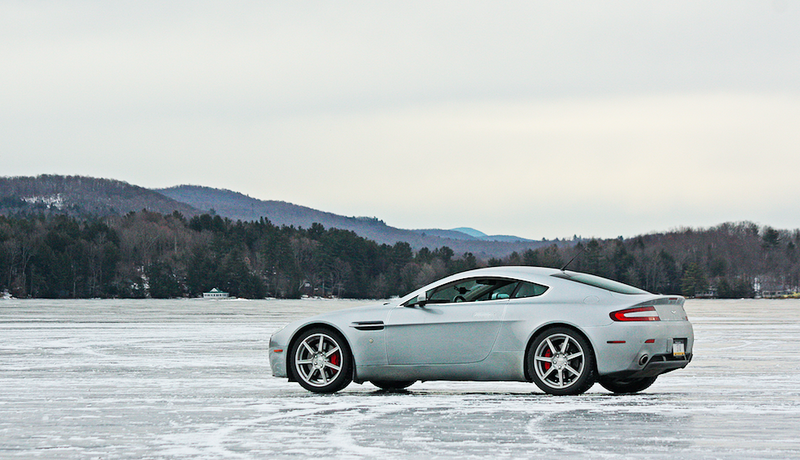 Illustration for article titled I Drove My Aston Martin On a Frozen Lake In Vermont