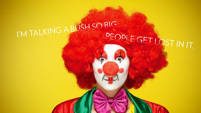 Illustration for article titled Why I'm Growing Out a Massive Clown Bush