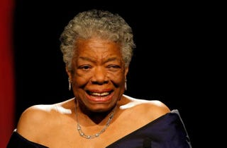 Maya Angelou speaks onstage during the 34th Annual AWRT Gracie Awards Gala at the New York Marriott Marquis on June 3, 2009, in New York City.Jemal Countess/Getty Images