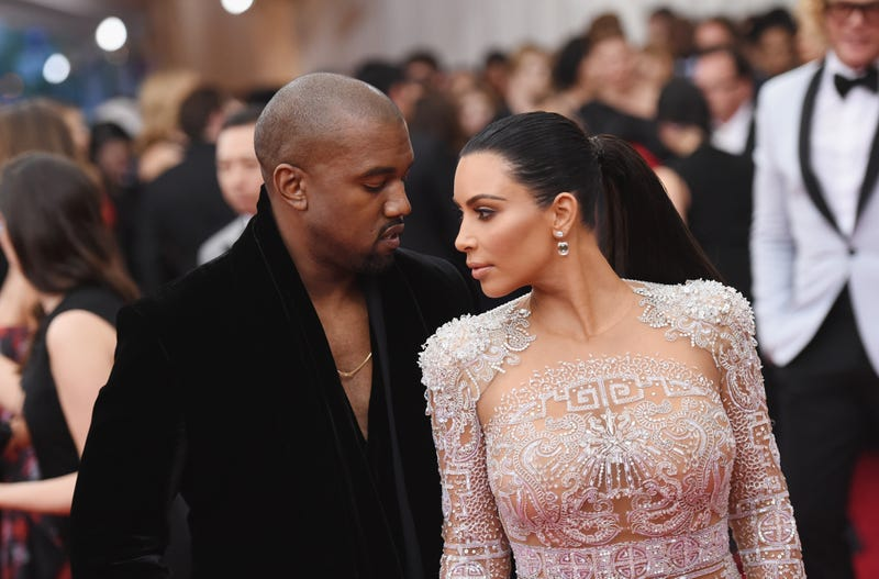 """Kanye West and Kim Kardashian attend the """"China: Through the Looking Glass"""" Costume Institute Benefit Gala at the Metropolitan Museum of Art on May 4, 2015, in New York City. Mike Coppola/Getty Images"""