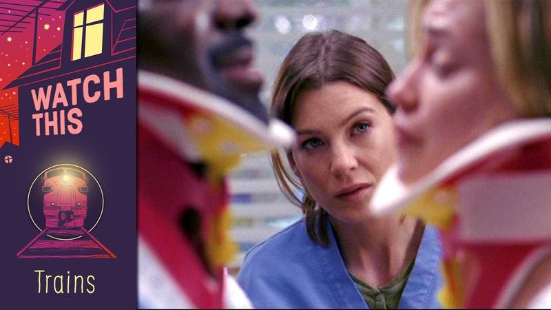 Meredith gets impaled by love in a classic Grey\'s Anatomy