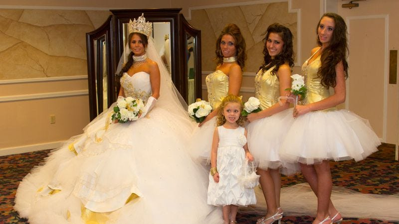Most expensive gypsy wedding dress