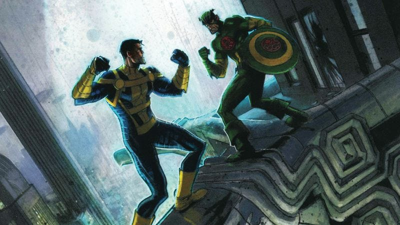 Illustration for article titled Exclusive Marvel preview: Nomad goes on the run in Hail Hydra #3