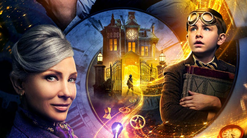 Cate Blanchett and Owen Vaccaro star in The House With a Clock in Its Walls.