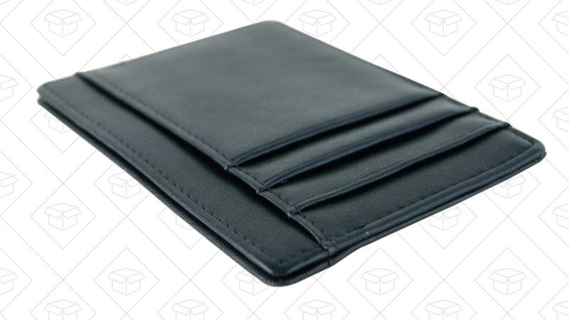 RFID Blocking Front Pocket Leather Wallet, $6 with code KQ8LGLCN
