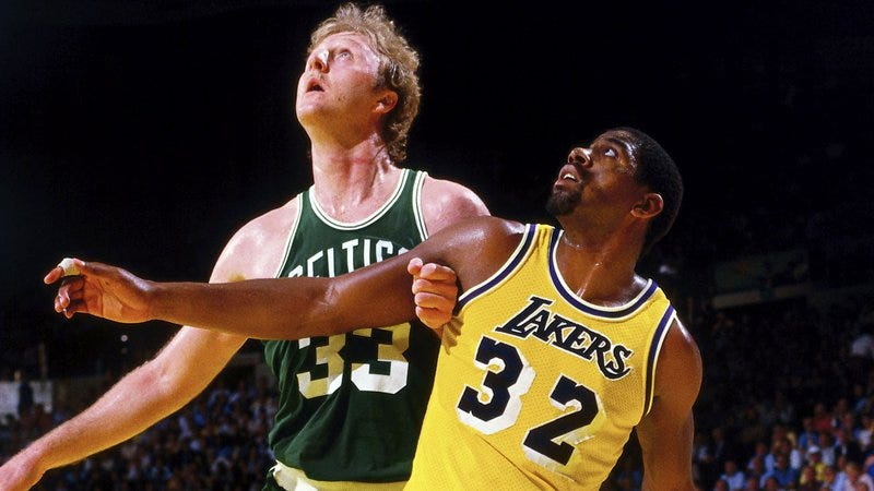huge selection of d199b 0fe37 Larry Bird, Magic Johnson (Photo  ESPN)